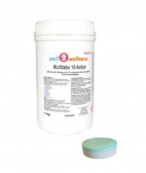 Pool Multitabs 20g 10-Action 1,0 kg