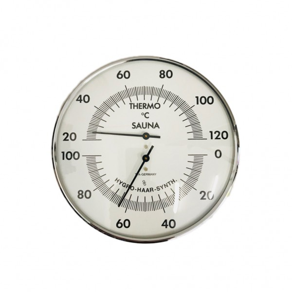 TFA Analoges Sauna-Thermo-Hygrometer mit Messingring