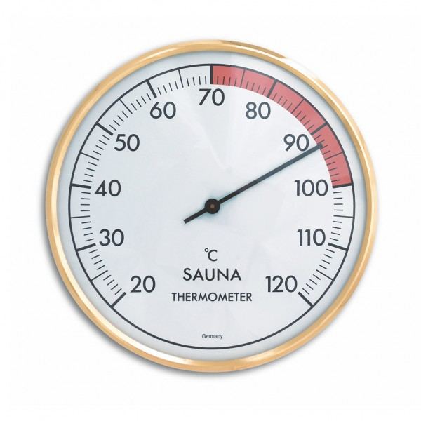 Analoges Sauna-Thermometer mit Metallring