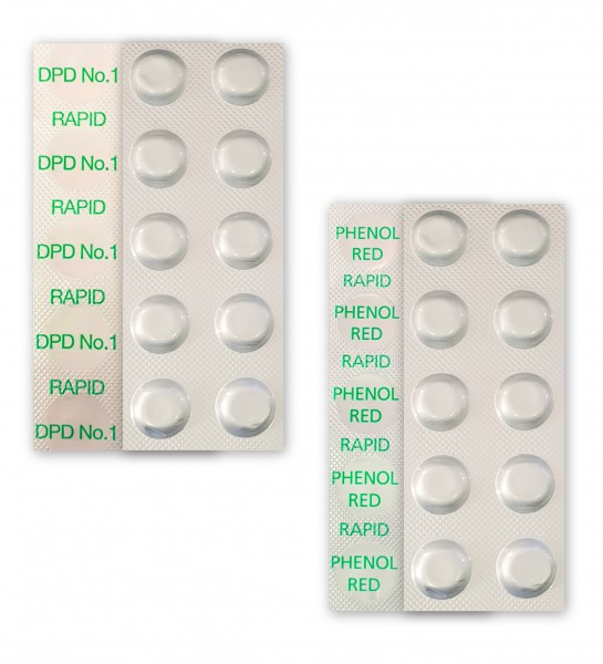 40 Testtabletten Rapid 20x DPD No.1 & 20x Phenol Red