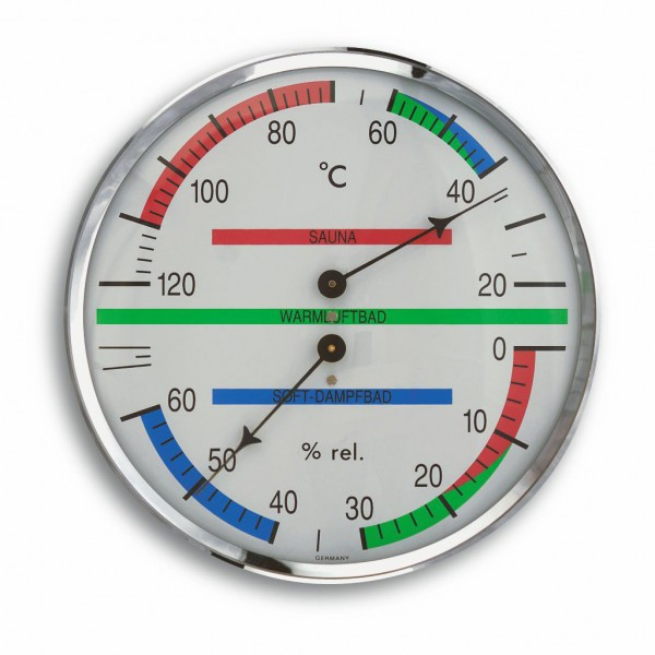 TFA Analoges Sauna-Thermo-Hygrometer 40.1013